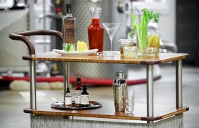 Cocktail Service Utility Cart