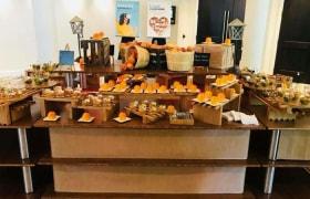 peach themed buffet