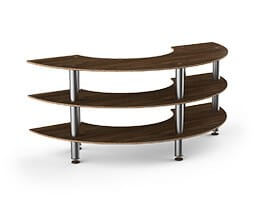 curved creative buffet