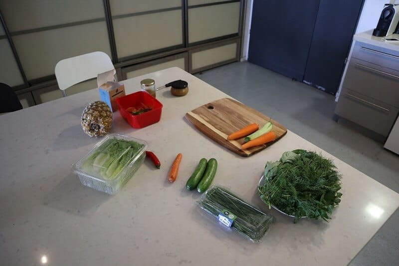 prepping and cutting all your vegetables